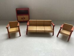 Vintage Wooden Dolls House Furniture Circa 1970andrsquos