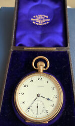 Paul Ditisheim Open Face Pocket Watch. 1932 Working Good Condition