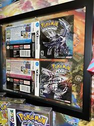 Signed Pokemon Diamond And Pearl Game Covers Unfolded Nintendo Ds Masuda And Ohmori
