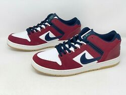 Nike Sb Air Force Ii 2 Low 'chicago' Red Sneaker, Size 10 Ao0300-600