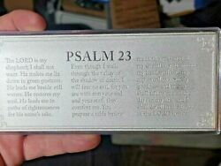 4 Oz Silver Bar .999 Fine Psalms 23 Etched In Bar Very Rare Only One On Ebay.