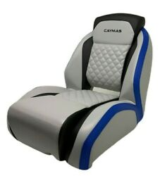 Attwood Helm / Captains Seat Caymas Bass Boat Black Grey Blue 47430-lg-07