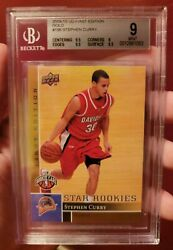 2009 Upper Deck Rookie First Edition Gold 196 Rc Stephen Curry Bgs 9 Mint 🔥 🔥
