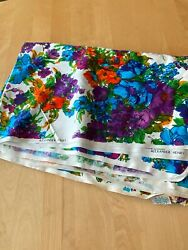 Vintage Alexander Henry Watercolor Flower Floral Fabric 44andrdquo X 133andrdquo