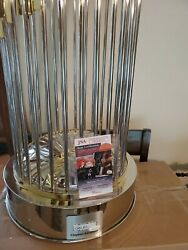 Clayton Kershaw Autograped Los Angeles Dodgers World Series Trophy Full Size