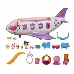 Littlest Pet Shop Pet Jet Playset Toy Includes 4 Pets Adult Assembly Required