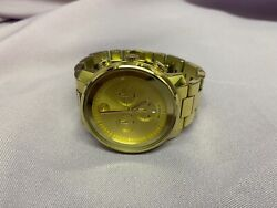 Movado Menand039s Bold 44mm Watch - Gold Runs Great Retail 995 Ships Free