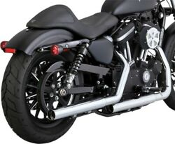 Vance And Hines Straightshots Hs Slip-ons Chrome 16863 Fits 2014 H-d Sportster