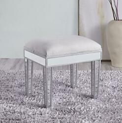 Mirrored Antique Silver Paint Vanity Dressing Bench Chair Footstool Desk 18