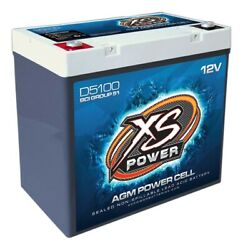 Xs Power Battery D5100 D-series Agm Battery 745 Cranking Amps 12 V Bci Group 51