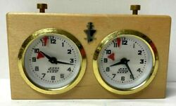 Vtg Chess Timer Clock A.p.f. V. Rolland Meisterschach 4039 Evc Box Papers
