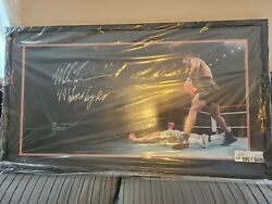 Mike Tyson 44 Wins By Ko Framed Boxing Knockout Photo Uda Upper Deck 12 Of 44