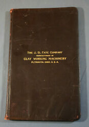 Catalogue J. D. Fate Company Premier Brick And Tile Machinery Plymouth Ohio