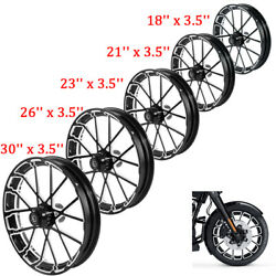 18and039and039-30and039and039 Front Wheel Rim Wheel Hub Single Disc Fit For Harley Road Glide 08-21