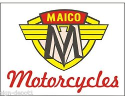 M044 And M042 Maico Motorcycles Vintage Motorcycle Bike Garage - Two Banners