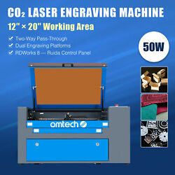 Omtech 50w Laser Cutter W 12x20in Workbed Ruida Panel Rdworks 8 For Home Office