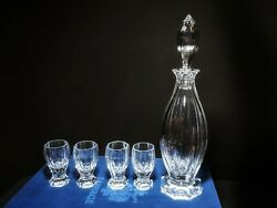 Faberge Crystal Decanter With Glasses Nib