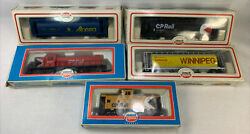 Vintage Model Power Trains Lot Of 5 Ho Scale Cp Rail Alberta Caboose X Box As Is
