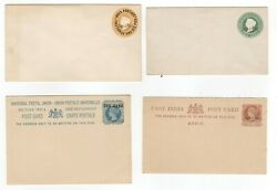 Zanzibar Nice Collection Of Queen Victoria Old Postal Stationary 4 Items