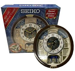 🎄new Seiko Melodies In Motion 2021 Animated Musical Christmas Carol Wall Clock