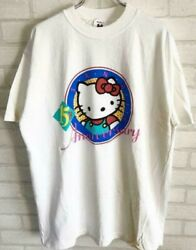 Sanrio 15th Anniversary Hello Kitty Vintage T Shirt Size L Anime Character Used