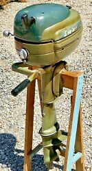 Antique 1960's Goodyear Sea Bee 5 Hp Outboard Boat Motor Engine W/ Gas Tank Wow