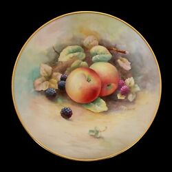 Minton - A. D. Holland - Hand Painted China Cabinet Plate - U.k. - Circa 1950's