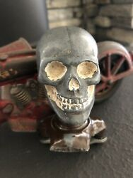 Antique Skull Suicide Shift Knob Old Harley Hot Rod Knuckle Head Willys 32 Ford