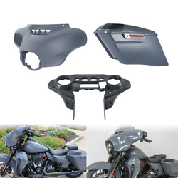 Inner Outer Batwing Fairing+4and039and039 Hard Saddlebag Fit For Harley Road Glide 14-21