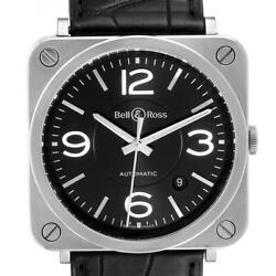 Bell And Ross Officer Black Dial Automatic Steel Mens Watch Brs92 Box Card