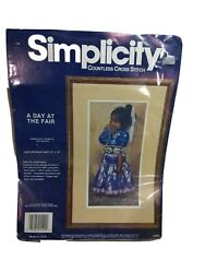 Simplicity Countless Cross Stitch Kit 05509 A Day At The Fair Open