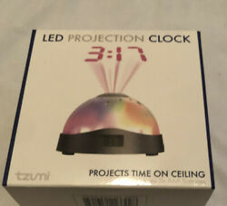 """LED Projection Clock Nightlight """" Projects Time on Ceiling"""" Or Moon amp; Stars"""