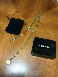 Necklace Coco Mark Gold Medal Vintage Chain Belt Woman