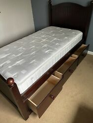 Pottery Barn Kids Twin Bed With Storage And Mattress