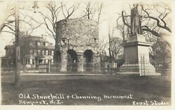 Rp Newport Rhode Island 1910s Old Stone Mill And Channing Monument
