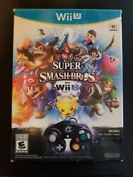 Super Smash Bros. For Wii U - Brand New, Open Box With Adapter, No Controller