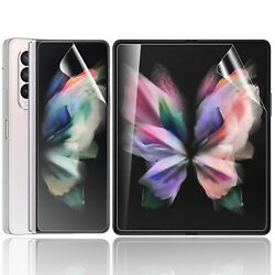 For Samsung Galaxy Z Fold 3 5g Hydrogel Front+inside Screen Protector Full Cover