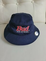 Vintage Bud King Of Beers Bucket Hat 1990s Beer Budweiser Official Product Usa