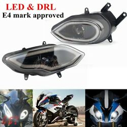 E4 E-mark Approved Led Headlight Assembly For Bmw S1000rr 2015-2018 Drl Headlamp