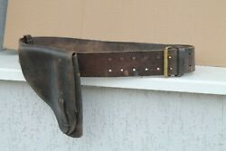 Old Original Rare Army Holster German Walther Wwii Ww2 Brauning Zauer With Belt