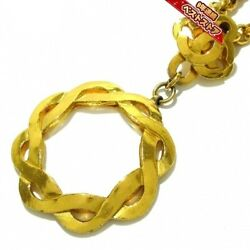 Necklace Loupe Coco Mark Metal Glass Gold Clear 97p 72cm Accessory Women
