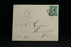 New York Mariners Harbor 1890 213 Cover + Letter, Richmond Co To Lancaster, Ma