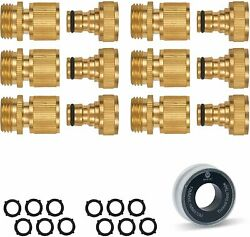 Morvat All Brass Nickel Plated Garden Hose Quick Connect, Quick Disconnect...