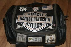 Vintage Harley Davidson Patch Motorcycle Bag Tote Distressed, Patches, Pins Rare