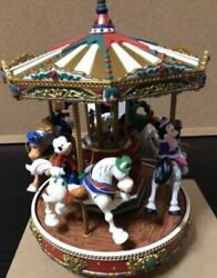 Disney Christmas Mickey Merry-go-round Electronic Music Box 50 Songs With Box