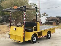 Used Taylor Dunn B210 Industrial Flatbed Electric Utility Cart