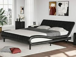King/queen Size Kid Metal Platform Bed Frame With Headboard Vintage Style