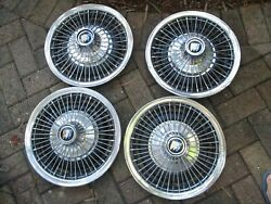 1967-1972 Buick Special 14 Wire Hubcaps Set Of 4 Oem Hollander 1013