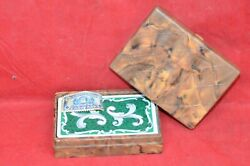 Tower Bakelite Playing Card Case Vintage Plastic Pinochle Deck Art Deco Butter
