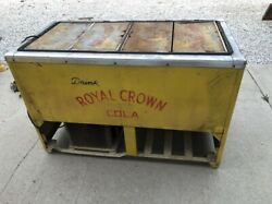 Vintage 1940and039s-1950and039s Royal Crown Cola And Nehi Chest Cooler Soda Pop Machine Old